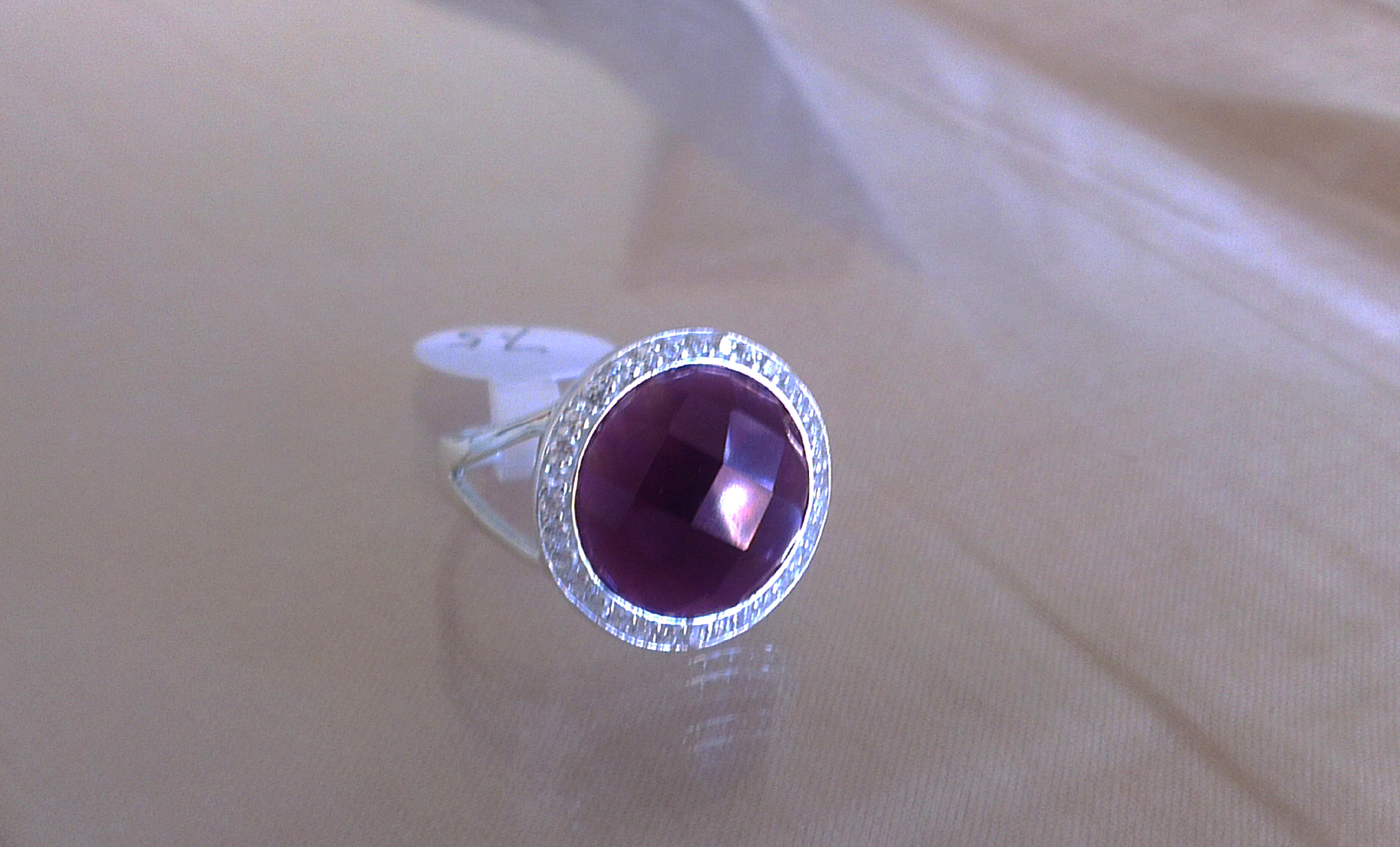 sterling silver ring in all sizes sale uk with cz